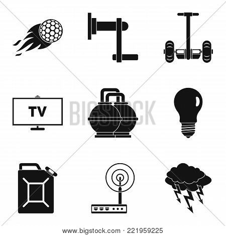 Vigor icons set. Simple set of 9 vigor vector icons for web isolated on white background