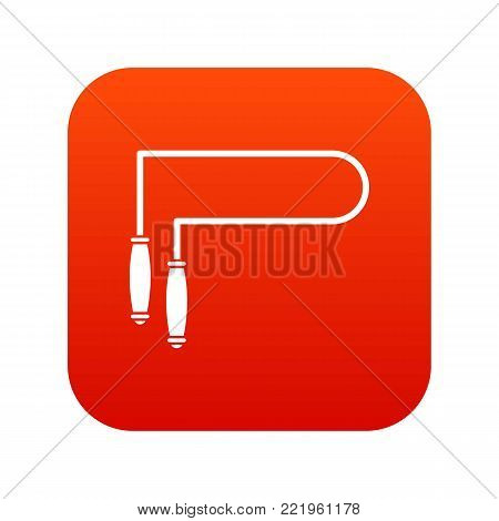 Skipping rope icon digital red for any design isolated on white vector illustration