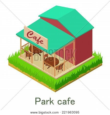 Park cafe icon. Isometric illustration of park cafe vector icon for web.