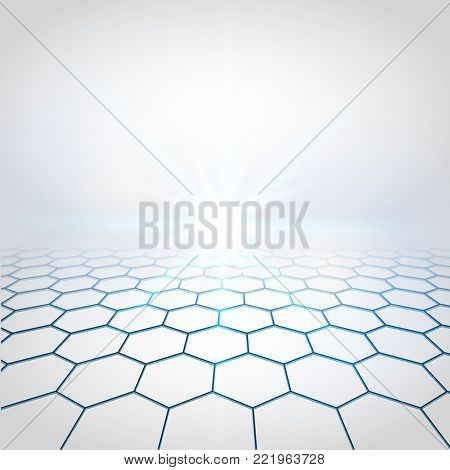 Abstract perspective background. Vector illustration of vision perspective. Technology Concept business background