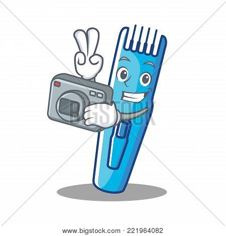 Photographer trimmer mascot cartoon style vector illustration