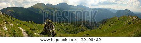 Tatry (Tatras) mountains panorama