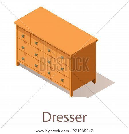 Dresser icon. Isometric illustration of dresser vector icon for web.