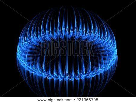 Gas-Jet Blue Glow Flame   - Fractal Art
