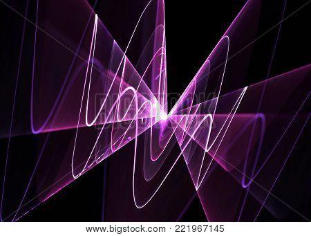 Wide Shining Weaves   Background - Fractal Art