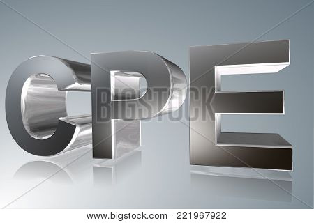 Accounting term - CPE - Continuing Professional Education - 3D image
