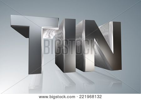 Accounting term - TIN-  Taxpayer Identification Number - 3D image