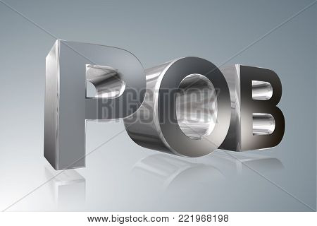 Accounting term - POB -Public Oversight Board - 3D image