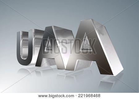 Accounting term - UAA - Uniform Accountancy Act- 3D image