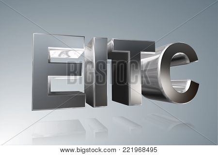 Accounting term - EITC - Earned Income Tax Credit-  3D image
