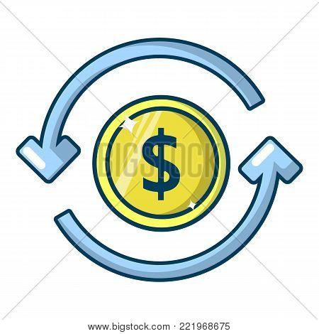 Circulation money icon. Cartoon illustration of circulation money vector icon for web