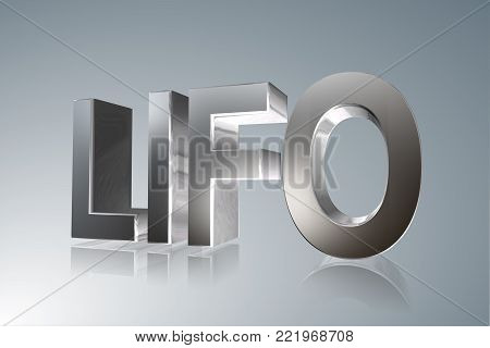 Accounting term - LIFO - Last In, First Out -   3D image