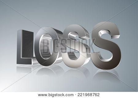 Accounting term - Loss -   3D image