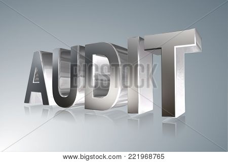 Accounting term - Audit -   3D image