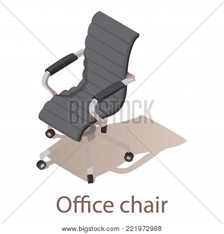 Office chair icon. Isometric illustration of office chair vector icon for web.