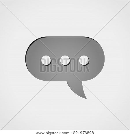 Illustration of comment grey icon concept design