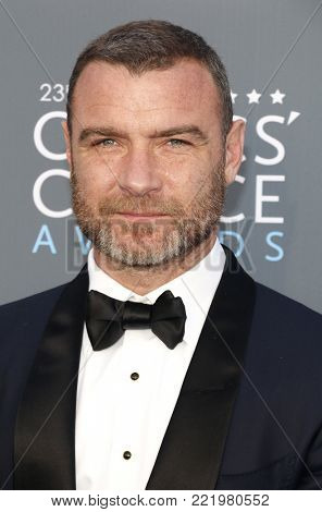 Liev Schreiber at the 23rd Annual Critics' Choice Awards held at the Barker Hangar in Santa Monica, USA on January 11, 2018.