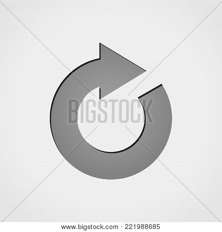 Illustration of reload grey icon concept design