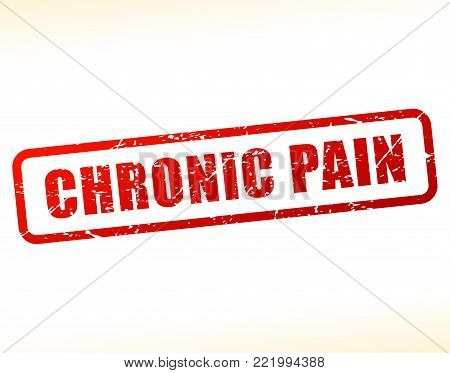 Illustration of chronic pain text buffered on white background