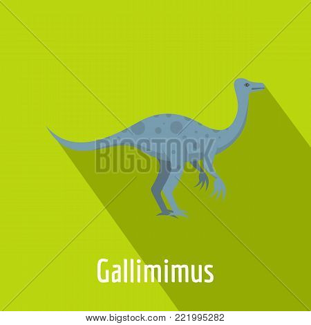 Gallimimus icon. Flat illustration of gallimimus vector icon for web.