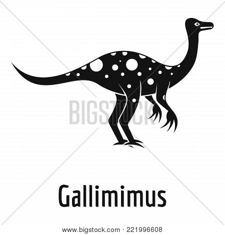 Gallimimus icon. Simple illustration of gallimimus vector icon for web.