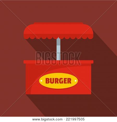Burger selling icon. Flat illustration of burger selling vector icon for web.