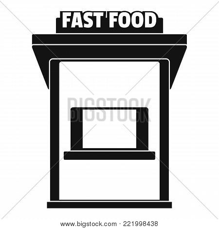 Fast food trade icon. Simple illustration of fast food trade vector icon for web.