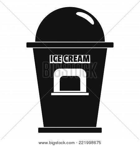 Ice creme trade point icon. Simple illustration of ice creme trade point vector icon for web.