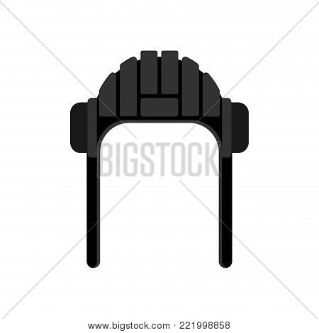 Tankman cap isolated. Tankman Military hat.  Illustration for 23 February. Defender of Fatherland Day. Army holiday for Russian Federation