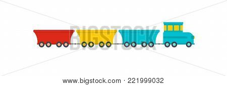 Commercial train icon. Flat illustration of commercial train vector icon for web.
