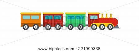 Compartment train icon. Flat illustration of compartment train vector icon for web.
