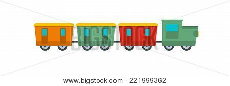 Reserved carriages icon. Flat illustration of reserved carriages vector icon for web.