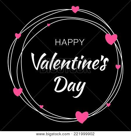Happy Valentines Day Vector Photo Free Trial Bigstock
