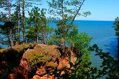 Lake Superior from Apostle Islands National Lakeshore in northern Wisconsin poster