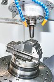 Milling machine. industrial metalworking cutting process by milling cutter poster