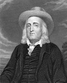 Jeremy Bentham (1748-1832). Engraved by J.Pofselwhite and published in The Gallery Of Portraits With Memoirs encyclopedia, United Kingdom, 1833. poster