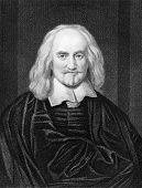 Thomas Hobbes (1588-1679). Engraved by J.Pofselwhite and published in The Gallery Of Portraits With Memoirs encyclopedia, United Kingdom, 1837. poster