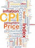 Background concept illustration Consumer Price Index poster