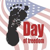international day of the abolition of slavery in the United States, the day of freedom of slaves, vector illustration poster