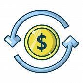 Circulation money icon. Cartoon illustration of circulation money vector icon for web poster