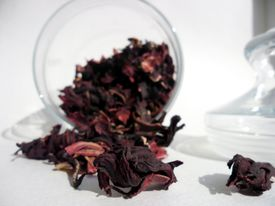 Close-up of red tea leaves