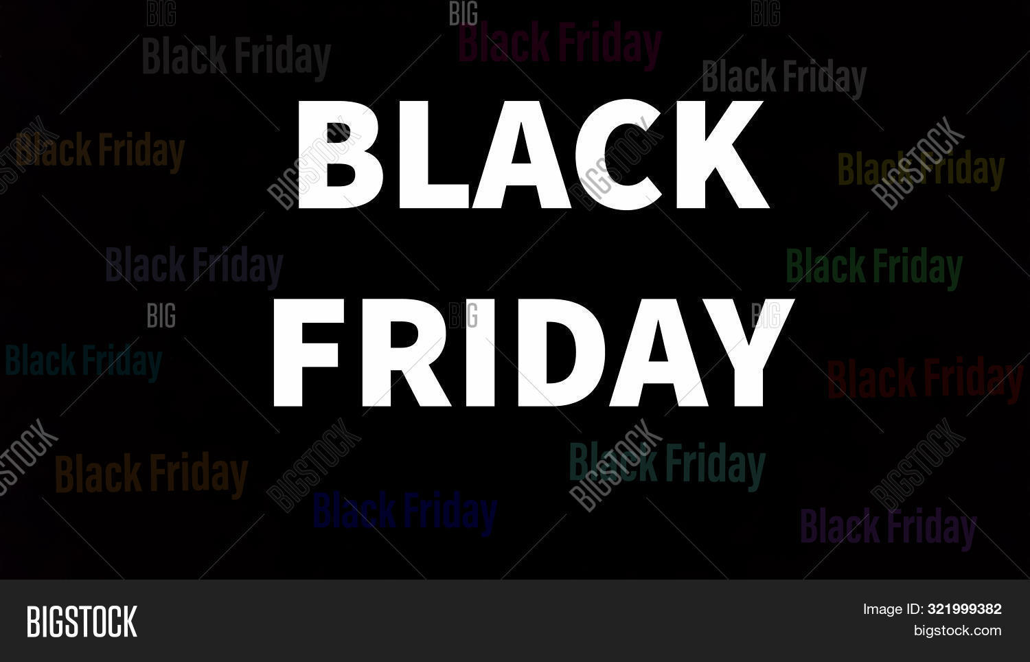 Black Friday Words Image Photo Free Trial Bigstock