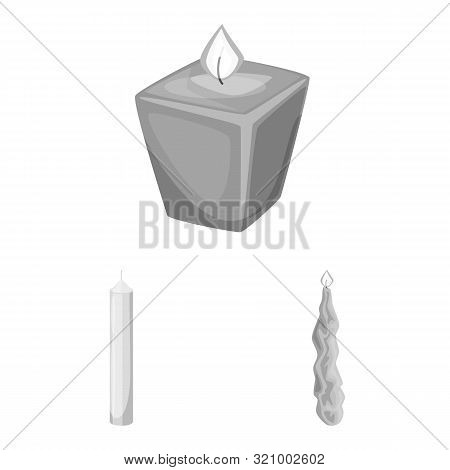 Vector Illustration Of Paraffin And Fire Sign. Set Of Paraffin And Decoration Stock Vector Illustrat
