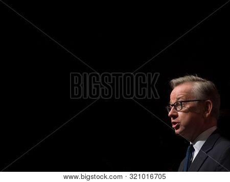 London - June 19: Conservative Cabinet Member Micheal Gove Gives A Speech As Part Of The Vote Leave