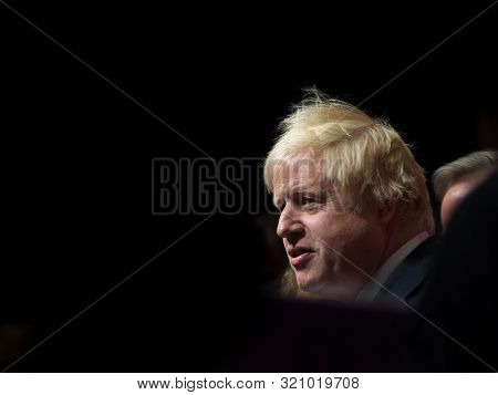 London - June 19: Conservative Politician And Current Prime Minister Boris Johnson Gives A Speech As