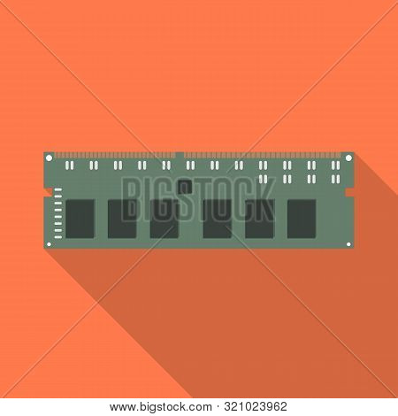 Vector Design Of Memory And Ram Sign. Collection Of Memory And Megabytes Vector Icon For Stock.