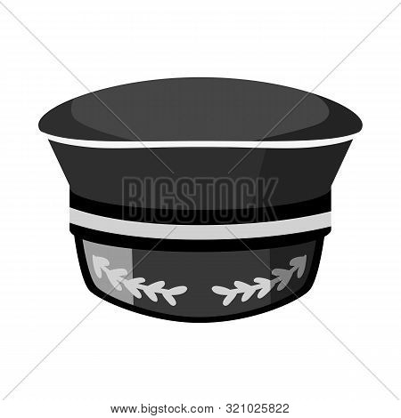 Vector Design Of Captain And Hat Sign. Set Of Captain And Sea Vector Icon For Stock.
