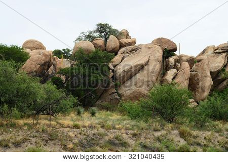 Texas Canyon In The Sonora Desert In Central Arizona Usa