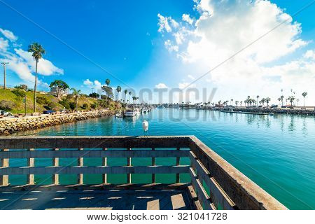 Oceanside Harbor On A Cloudy Day. Southern California, Usa
