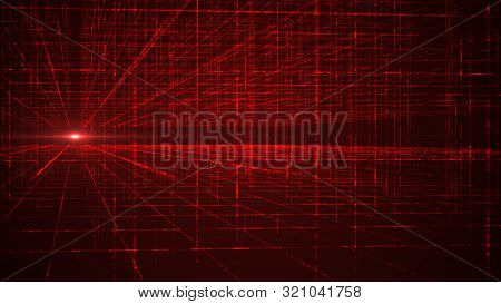 Abstract Digital Matrix Background. Futuristic Big Data Information Technology Concept. Motion Graph